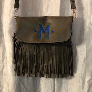 """💗💗Monogrammed """"M"""" Leather Tassel Purse"""